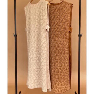 トゥデイフル(TODAYFUL)のI_am design layered vest beige(ベスト/ジレ)