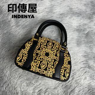 印傳屋 - ●美品・店舗展示品●印傳屋インデンヤ INDENYA キナート ミニハンドバッグ