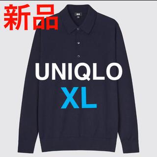 UNIQLO - UNIQLO 新品 エクストラファインメリノニットポロシャツ ウール セーター