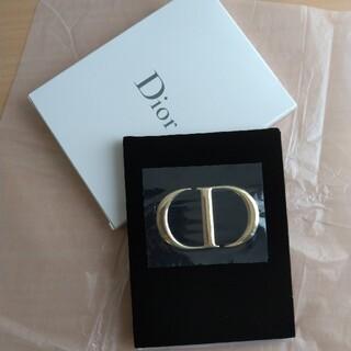 ディオール(Dior)の新品未使用品♡Dior ディオール ノベルティミラー ゴールドロゴ ベロア素材(ノベルティグッズ)