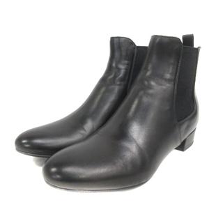 プラダ(PRADA)のプラダ サイドゴア ブーツ ショートブーツ レザー 36 1/2 黒 ブラック(ブーツ)
