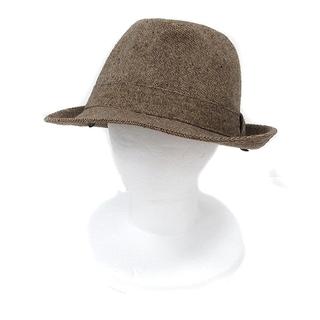 モンベル(mont bell)のモンベル Montbell 帽子 中折れ帽 ハット ツイード ウール L 茶 ブ(その他)
