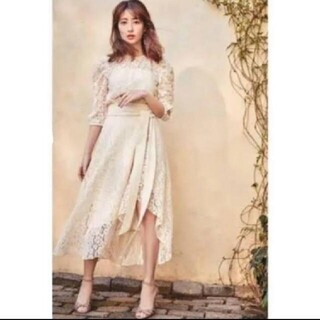 FRAY I.D - her lip to Belted Asymmetric Lace Dress