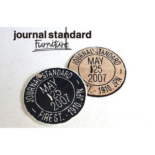 JOURNAL STANDARD - ジャーナルスタンダードファニチャー スタンプラグ ベージュ 円形 ラグ