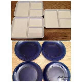 ムジルシリョウヒン(MUJI (無印良品))の無印仕切り角皿 & デュラレックス(食器)