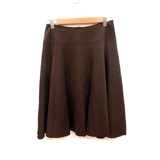 アナイ(ANAYI)のアナイ ANAYI スカート フレア ひざ丈 38 ダークブラウン /RT(ひざ丈スカート)