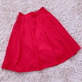 ロキエ(Lochie)の今週限定 red skirt(ひざ丈スカート)