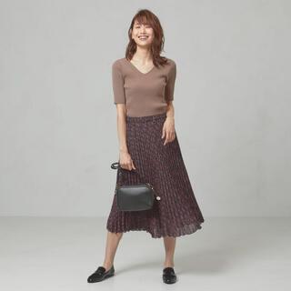 ユナイテッドアローズ(UNITED ARROWS)のユナイテッドアローズ プリーツスカート ロングスカート 花柄 ピンク(ロングスカート)