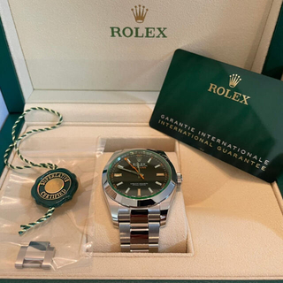ROLEX - ロレックスミルガウス新品未使用2021 10月購入116400gv