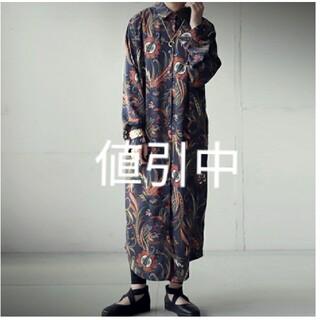 antiqua - antiquaペイズリー柄マキシ丈ワンピース