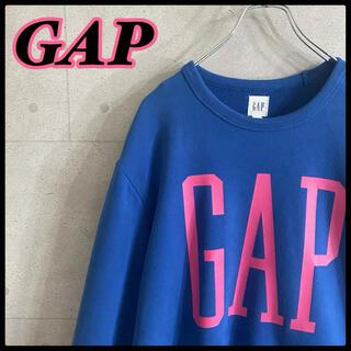 ギャップ(GAP)のオールド ギャップ GAP 白タグ デカロゴ スウェット ブルー(スウェット)