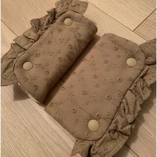 【3way】刺繍フリルよだれカバー(外出用品)