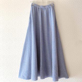 ロンハーマン(Ron Herman)のロンハーマン 2021 完売品 ギンガムチェック スカート ロングスカート(ロングスカート)