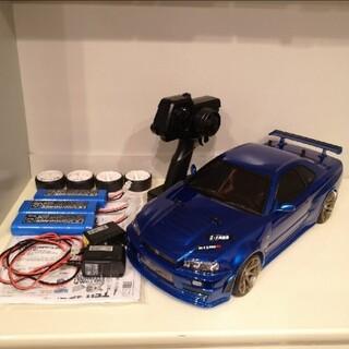 タミヤ ラジコン TT01typeE  バッテリー3本、アルミパーツ付き