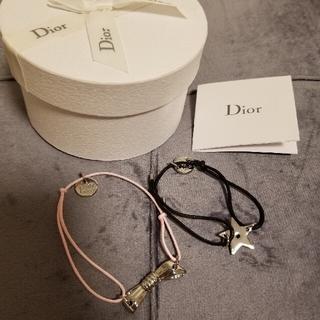 クリスチャンディオール(Christian Dior)のChristian Dior ノベルティ ブレスレット2本セット リボン、スター(ブレスレット/バングル)