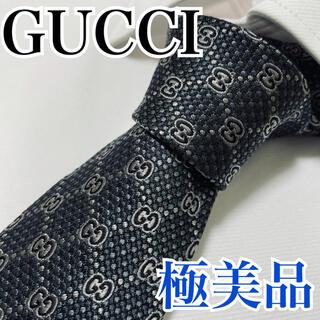 Gucci - 極美品 GUCCI グッチ ネクタイ 高級シルク GG柄 早い者勝ち
