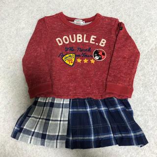 ダブルビー(DOUBLE.B)のDOUBLE.B  ワンピース 90(ワンピース)