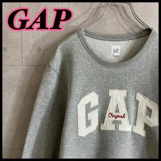 ギャップ(GAP)のオールド ギャップ GAP 白タグ 刺繍 デカロゴ スウェット グレー(スウェット)