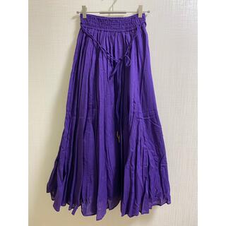 ユナイテッドアローズ(UNITED ARROWS)のユナイテッドアローズ EMMEL REFINES ロングスカート 紫 パープル(ロングスカート)