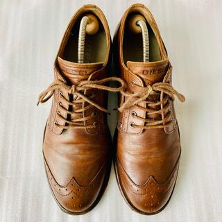 ディーゼル(DIESEL)のDIESEL ディーゼル 革靴 ウイングチップ 茶色 26cm 除菌・消臭済み(ドレス/ビジネス)
