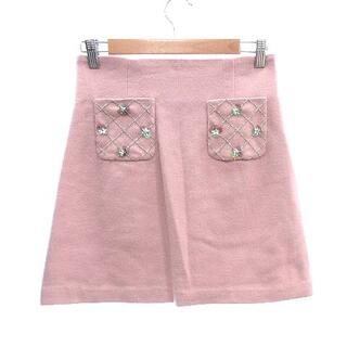リランドチュール(Rirandture)のリランドチュール Rirandture 台形スカート ミニ 装飾 ウール 2 ピ(ミニスカート)