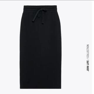 ZARA - ZARAジャージ素材 タイトスカート 黒
