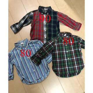 ベビーギャップ(babyGAP)のベビーギャップ チェックTシャツ まとめ売り(ブラウス)