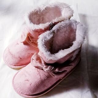 ミキハウス(mikihouse)のミキハウス ムートン ブーツ ピンク 18㎝ 女の子 リボン(ブーツ)