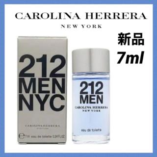 キャロライナヘレナ(CAROLINA HERRERA)の 【新品】キャロライナヘレラ212 MEN メン オードトワレ 香水 7ml(香水(男性用))
