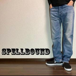 SPELL BOUND - 【SPELLBOUND】スペルバウンド ヴィンテージ加工デニムパンツ Lサイズ