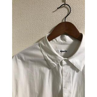 ユナイテッドアローズ(UNITED ARROWS)のAUBETT ヘビーブロード オーバーサイズシャツ Lサイズ 白(シャツ)