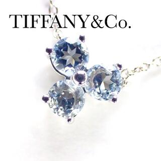 Tiffany & Co. - ティファニー TIFFANY  K18WG アクアマリン アリア ネックレス