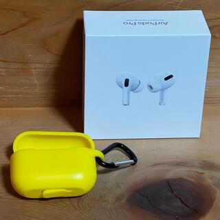 Apple - 【中古】AirPods pro ケース付き イヤーチップ未使用 2月まで保証あり
