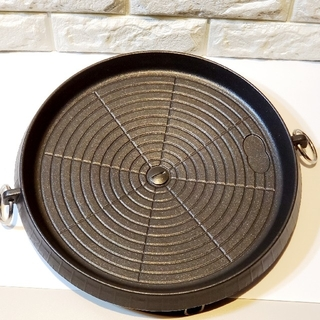 お手軽 サムギョプサル焼肉グリル(丸型) 鉄板 卓上
