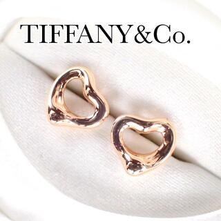 Tiffany & Co. - ティファニー TIFFANY K18PG オープンハート ピアス
