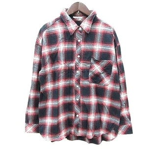 ベイフロー(BAYFLOW)のベイフロー BAYFLOW ネルシャツ チェック 長袖 3 赤 レッド 紺 ネイ(シャツ)
