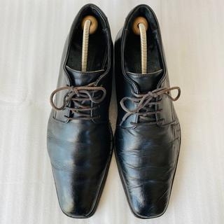 ビームス(BEAMS)のBEAMS ビームス 革靴 プレーントゥ 黒 25.5cm 除菌・消臭済み(ドレス/ビジネス)