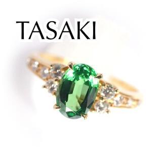 タサキ(TASAKI)の田崎真珠 グリーンガーネット 0.81 ダイヤ 0.18ct K18YG リング(リング(指輪))