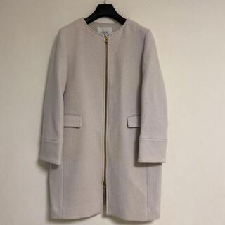 イエナスローブ(IENA SLOBE)のスローブイエナ☆優しい色合いが素敵なノーカラーコート(ロングコート)