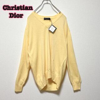 クリスチャンディオール(Christian Dior)のChristian Dior ワンポイントロゴ イタリア製 長袖 ニット(ニット/セーター)