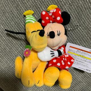 ミニーマウス(ミニーマウス)のミニー バースデー  誕生日 プルート ぬいぐるみバッジ 2021 ディズニー(キャラクターグッズ)