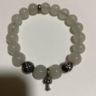 Chrome Hearts - 美品 シルバー925 数珠 ブレスレット ホワイト