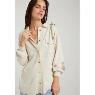 シールームリン(SeaRoomlynn)のLINENコンビニットシャツジャケット(ニット/セーター)