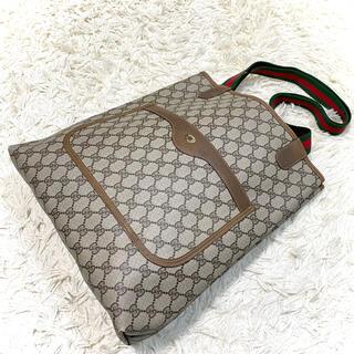 Gucci - 【美品】GUCCI トートバッグ シェリーライン 大容量 GG柄 ロゴ