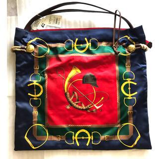 トプカピ(TOPKAPI)のTOPKAPI マイルドサテン スカーフ柄 トートバッグ 新品(ショルダーバッグ)