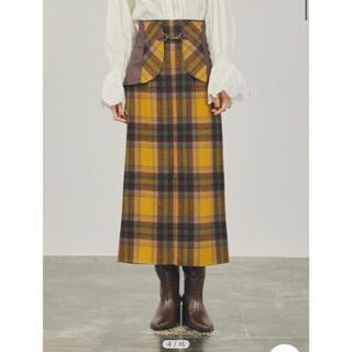 Lily Brown - lilybrown ビット付き合皮切り替えタイトスカート