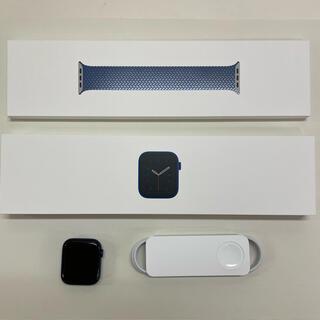 Apple Watch - 美品 アップルウォッチ シリーズ6 44mm GPS ブルーアルミニウムケース