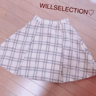 WILLSELECTION - ウィルセレクション♡チェック♡ウール♡フレアスカート