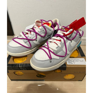 OFF-WHITE - NIKE DUNK LOW off-white Lot.No.45