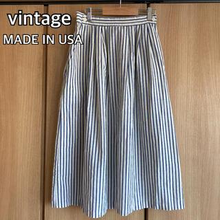 vintage スカート TAKE1 ストライプ USA製 レーヨンスカート